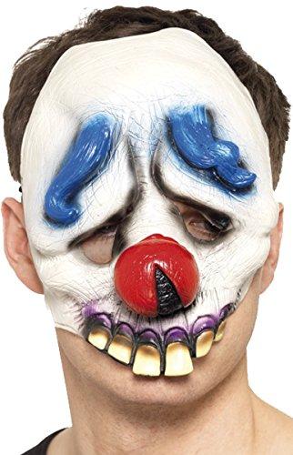 Unisex Erwachsene Halloween Fancy Party Zubehör Gesichtsmaske Horror/Evil/lustiges Face Maske Gr. Einheitsgröße, Dopey The Clown Chinless Face Mask