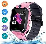 bhdlovely Bambini Impermeabile Smart Watch con LBS/GPS Touch Screen ricaricabile vocale del gioco Orologio Intelligente Regalo di festa per bambini (rosa)