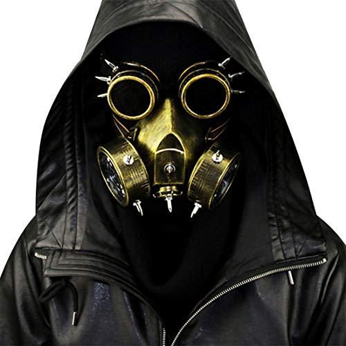 Pest Doktor Maske Halloween Requisiten Kostüm Steampunk Gothic Cosplay Retro Leder Vogel Maske,Copper-OneSize (Kostüm Doktor Gruselige)