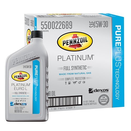 pennzoil-550042833-6pk-platinum-euro-l-full-synthetic-silver-5w-30-motor-oil-lubricant-1-quart-pack-