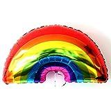 funie Cute Rainbow Folie Mylar Ballon Party Dekoration, Regenbogenfarben, 90cm x 60cm/35.43