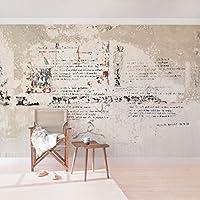 Apalis Betonoptik Vliestapete Alte Betonwand Mit Bertolt Brecht Versen  Breit | Vlies Tapete Wandtapete Wandbild Foto