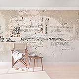 Apalis Betonoptik Vliestapete Alte Betonwand mit Bertolt Brecht Versen Breit | Vlies Tapete Wandtapete Wandbild Foto 3D Fototapete für Schlafzimmer Wohnzimmer Küche | mehrfarbig, 108872