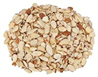 Berries And Nuts California Almond Flakes with Skin (Badam Cutting with Skin), 250g