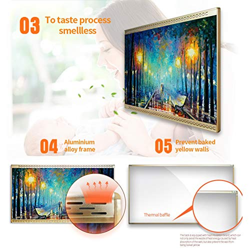HL Infrarot Heizung Panel Wand Carbon Kristall Infrarot Heizung Badezimmer Home Office Bild 3*