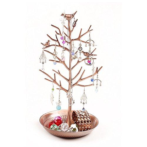 Vögel Schmuckständer Kettenständer Baum Armbandständer Schmuckhalter Ohrringhalter Metall Schmuckaufbewahrung Schmuckbaum Damen Geschenk - Antique Bronze (Ohrring Bäume Für Frauen)