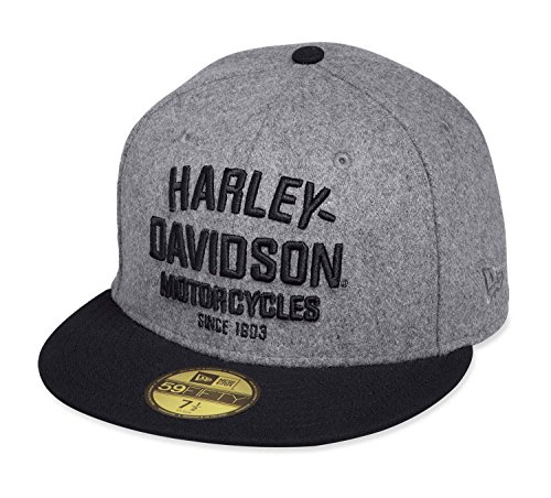 Harley-Davidson® Men's Wool 59FIFTY® Cap (S) (Automobil-logo-flag)