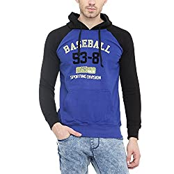 Gritstones Indigo/Black Printed Sweatshirt-GSSSINGBLKBASE-XL