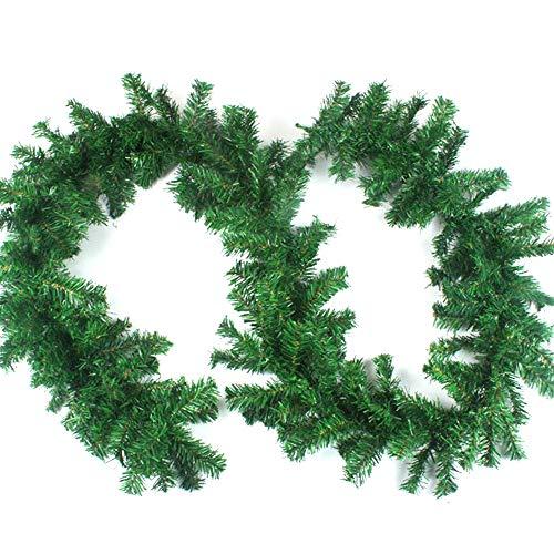 Aamcoam Guirnalda Navidad Chimenea Guirnalda Navidad Pino Artificial Guirnalda Navidad Verde PVC...