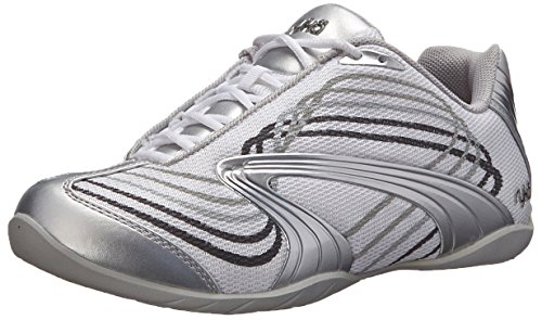 Ryka Women's Studio D Cross-Training Shoe, White/Chrome Silver/Iron Grey/Frost Grey, 6.5 M US (Ryka Studio Womens)