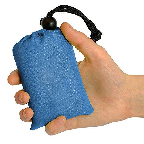 YSCYLY Outdoor-Camping Picknick-Matte Nylon Tasche Wasserdicht Faltende Anhänger Strandmatte Feuchtigkeitssperre,Blue