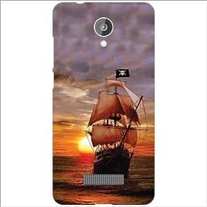 Micromax Canvas Spark Q380 Back Cover - Silicon Boat Designer Cases