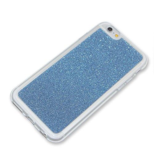 per iPhone SE/ 5S/ 5 Custodia case,Herzzer Mode Crystal per iPhone SE/ 5S/ 5 Creativo Elegante Transition Color con anello cover,Protettivo Skin lusso di Cristallo Diamante Glitter Bling Gradiente Col celeste