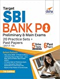 Target SBI Bank PO Preliminary & Main Exam - 20 Practice Sets + Past Papers (2017-15) - English 7th Edition