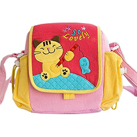 [Gatito amante de pescados] Bolsa de hombro con un gatito de aplique(7.3*7*2.4)