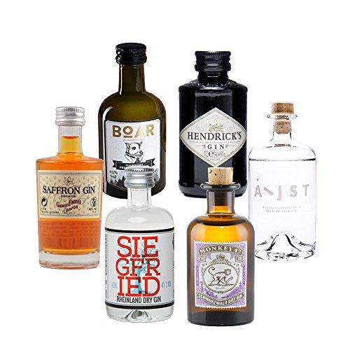 Produktbild bei Amazon - Gin Mini Tasting Set Vol. 1 - 6 x Original Gin minis