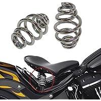 """ViZe 2 x 3"""" Resortes Moto Muelles moto Vintage Amortiguadores Acero Para Harley Chopper Bobber Softail Custom Bike Motivo Cromado"""