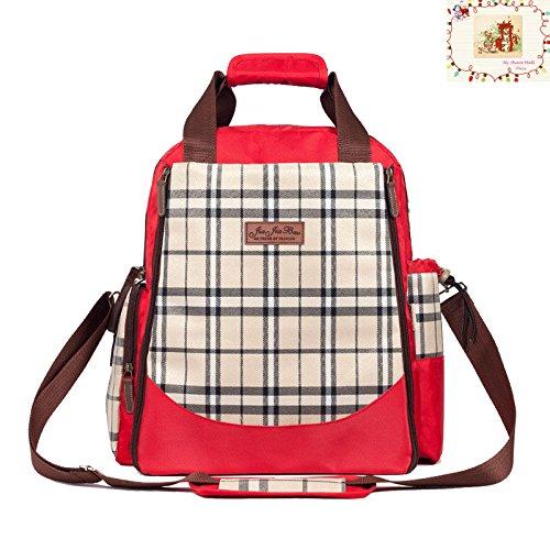 My Teilen Mall Classic Plaid Multifunktions Groß Kapazität Hand Bag Umhängetasche Rucksack Baby Windel Baby Care Produkt (Umhängetasche Plaid)