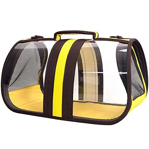 Haustier-Fördermaschine Katzentrage, kleine Hundetrage Reisetasche Haustier Tasche aus atmungsaktivem tragbarem Haustierkäfig Hunderucksack Spielzeug for mittelgroße Hunde Transportbox ( Size : S )
