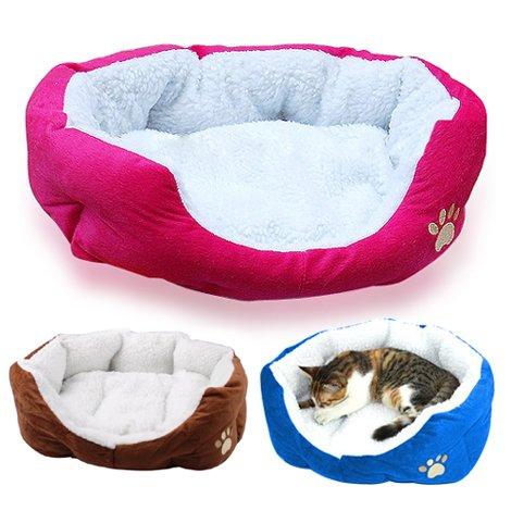 Yahee365 Hundebett Hundekissen Hundesofa Katzenbett Tierbett in 3 Farben (Rose) - 6