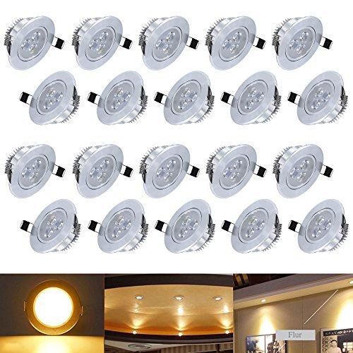 HENGDA Hengda® 20X 3W LED Spot Set 255Lumen 85-265V