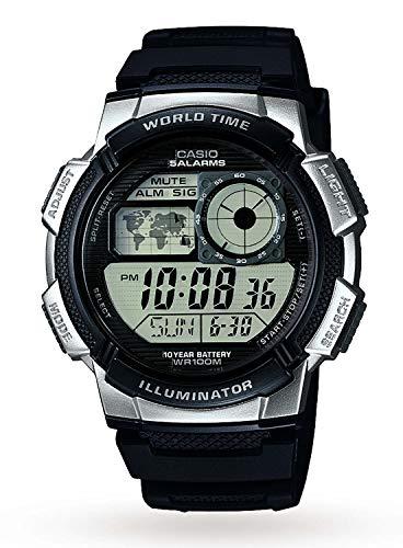 Casio Herren Uhr Digital mit Resinarmband AE-1000W-1A2VEF (Casio-digital-uhr)