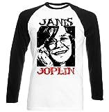 teesquare1st Janis Joplin Camiseta DE Mangas Negra LARGAS T-Shirt Size Xxlarge