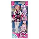 Simba 105735864 - Steffi Love Puppe mit Evi beim Schlittschuh laufen