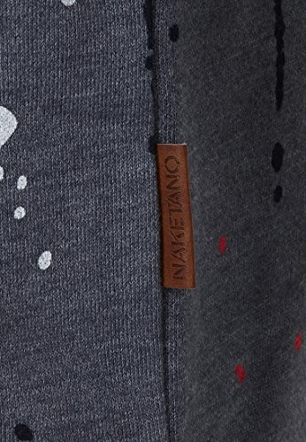 Naketano Male Sweatshirt Son of a Pimp Dark Ash Melange