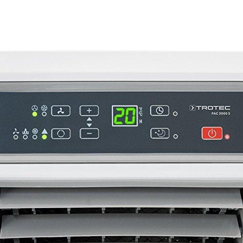 Trotec Pac 2000 S 1210002002 - Climatizzatore Portatile a 7000 Btu, Condizionatore D'Aria Locale, Monoblocco 2.0 Kw (7.000 Btu), EEK A