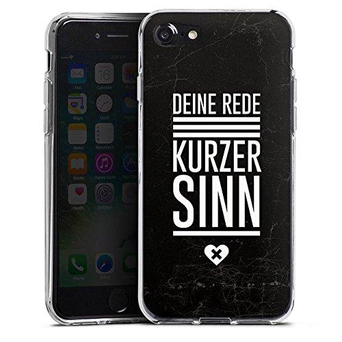 Apple iPhone X Silikon Hülle Case Schutzhülle Leben Sinn Spruch Silikon Case transparent