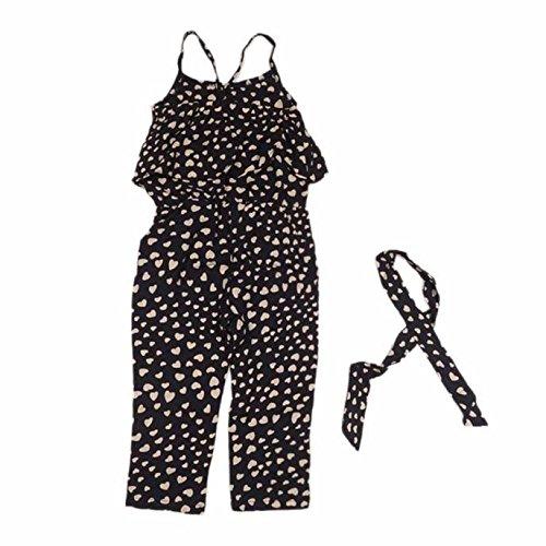 e0ce298ab feiXIANG Ropa Infantil Baby Girl Love Correa para el Hombro Jumpsuit Shorts  Infantil Recién Nacido Mono