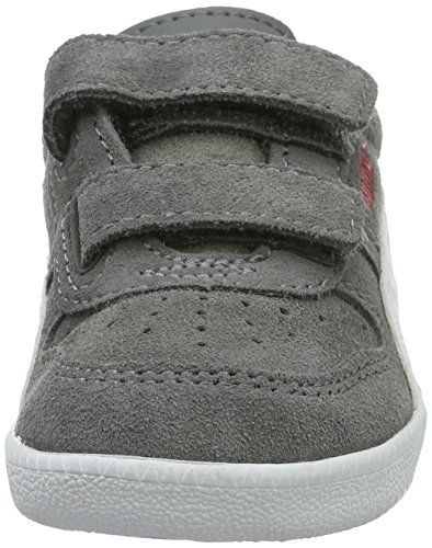 Puma Unisex-Kinder Icra Trainer Sd V Inf Low-Top Grau (steel gray-puma white 14)