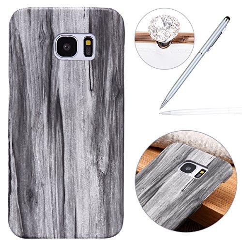 Felfy Hülle für Samsung Galaxy S7 Edge,Galaxy S7 Edge Schutzhülle,Galaxy S7 Edge Wood Case,Samsung S7 Edge Hülle Holz Slim Luxury Schutzhülle mit PC Plastic Hart Back Holz Cover Einzigartige Langlebige - Holz Dünnes