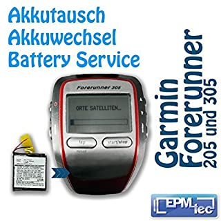 Akkuwechsel für Laufuhr GPS Garmin Forerunner 205 / 305 Umbau Service Akkutauschen Akkutausch-Service