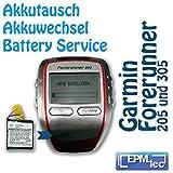 Le changement de batterie laufuhr pour gPS garmin forerunner 205 305/akkutausch service de transformation