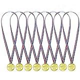 THE TWIDDLERS 48 Goldmedaillen für Kinder - Ideale goldenes Medaille für Kinder Fußballspiele, Sport, Laufen, Handball, Bowling, Pinata, Weihnachtsstrumpf,...