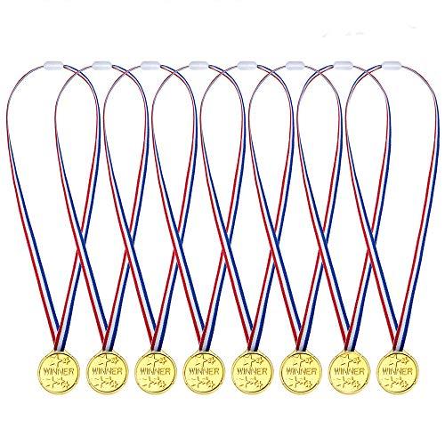 dmedaillen für Kinder - Ideale goldenes Medaille für Kinder Fußballspiele, Sport, Laufen, Handball, Bowling, Pinata, Weihnachtsstrumpf, Kindergeburtstag Party - Partyartikel ()
