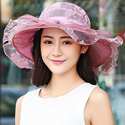 PLKOI Lace Sunshade Hats, Hats Summer Getaways Fold Beach Hats