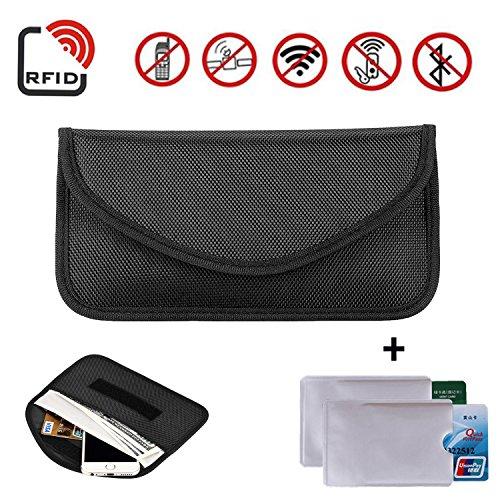 Newseego RFID-Signalblockertasche | Anti-Diebstahl-Faraday-Tasche für Autoschlüssel, Keyless Go Schutz Entry Funkschlüssel Abschirmung & Handy Signal Blocker(Schwarz)