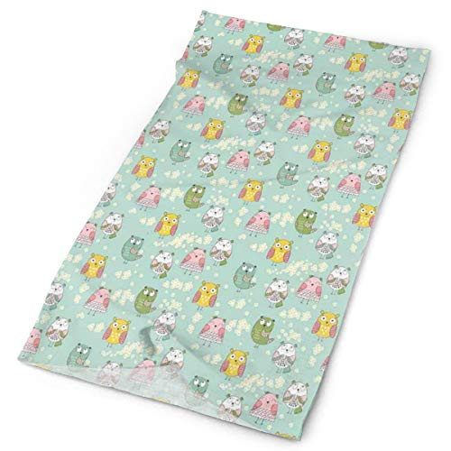 or Scarf Headbands Bandana,Funny And Cute Bird Characters And Daisy Flowers On Pastel Green Kids Nursery Theme,Mask Neck Gaiter Head Wrap Mask Sweatband ()
