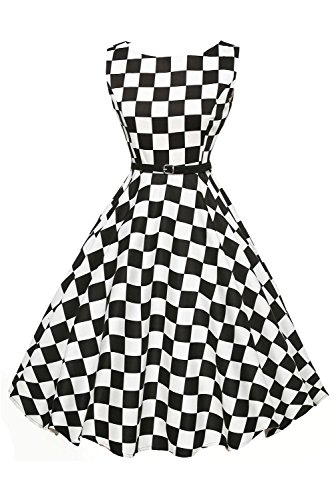 Lets Shopping robe d'oscillation Retro du Lunar Blanc avec Style de les années 50en Noir (US 12-14)L Como se muestra Como se muestra