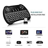 Tavakkal® Mini Wireless Keyboard with Touchpad/Backlit Light & Wireless Mouse Combo for Android/iOS Devices (Black)