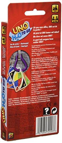 Mattel- UNO H2O To Go H20 Juego de cartas,  Multicolor,  7+ (P1703)