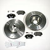 Autoparts-Online Set 60004865 Bremsscheiben/Bremsen + Beläge + Sensoren für Vorne/die Vorderachse