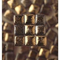 MosaicMicros (cerámica, 5x 5x 3mm 10g Mini, diseño de Mosaico de Vidrio Azulejos, Color Negro y Dorado