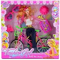 Saiti Toys Caja Muñeca con Bicicleta y complementos