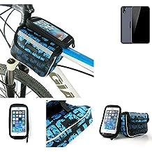 Bolso Bolsa Funda Bicicleta para Ulefone Paris Arc HD, Funda Móvil soporte tubo Bici, azul, Impermeable Resistente al Agua - K-S-Trade(TM)
