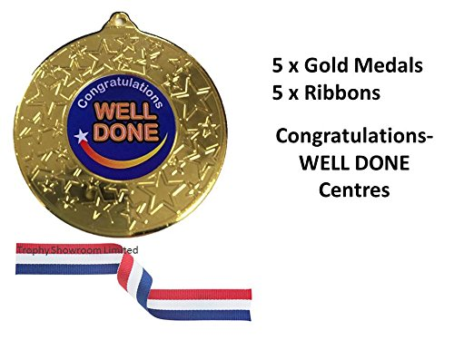 gold-congratulations-well-done-medals-with-ribbonspack-of-5achievementschool-award