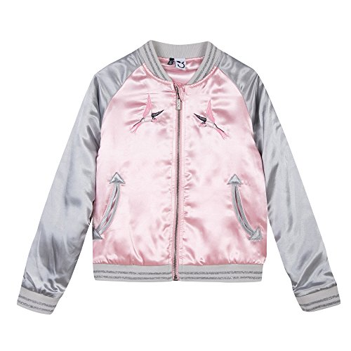3 Pommes Bombers, Blouson Fille, Rose (Rose Moyen), 11-12 Ans (Taille Fabricant: 11/12A)